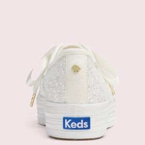 kate spade Shoes - Less for Kate Spade triple kick cream glitter